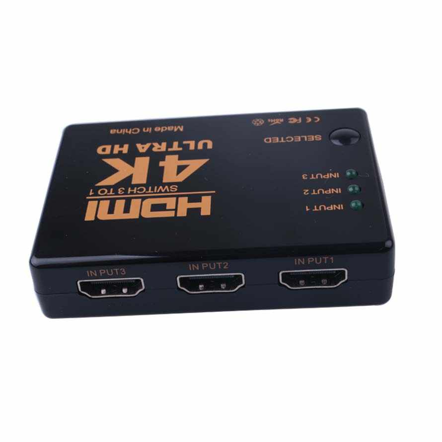 Hot Sale 3 Port 4K * 2K 1080P Switcher HDMI Switch Selector 3 In 1 Pemisah Ruangan ultra HD untuk HDTV Xbox PS3 PS4 Multimedia