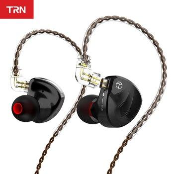 TRN BA8 16BA unité de pilote dans l'oreille écouteur 18 équilibré Amarture HIFI DJ moniteur écouteurs écouteurs avec câble QDC TRN VX V90 T200