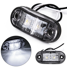цена на 2Pcs 12V / 24V LED Side Marker Lights Car External Lights Warning Tail Light Auto Trailer Truck Lorry Lamps White color