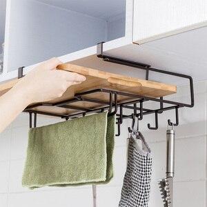 Кухонная разделочная доска, органайзер, полка для хранения, подвесная полка для шкафа, железная стойка вешалок для полотенец, дальность, кух...