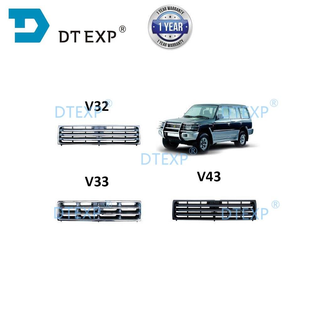 Bumper Net FOR Pajero Front Grille For Montero V31 V32 V33 V43 Radiator Grille Chrome Or Black 1989 -1999