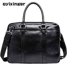 2020 Men's Leather Business Briefcase Casual Shoulder Bag Messenger Laptop Handbag New Travel Bags Bolso Hombre Office men Bag