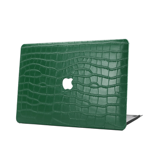 Monogrammed начальные буквы зеленый крокодиловый кожаный чехол для Macbook Air Retina 2020 Pro Чехол для мужчин роскошный чехол для Macbook