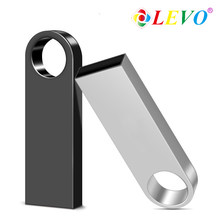 Pen drive de metal dorado plateado, unidad Flash USB de 64GB, 8GB, 16GB, 32GB, 128GB, tarjeta flash, 256gb de disco en u