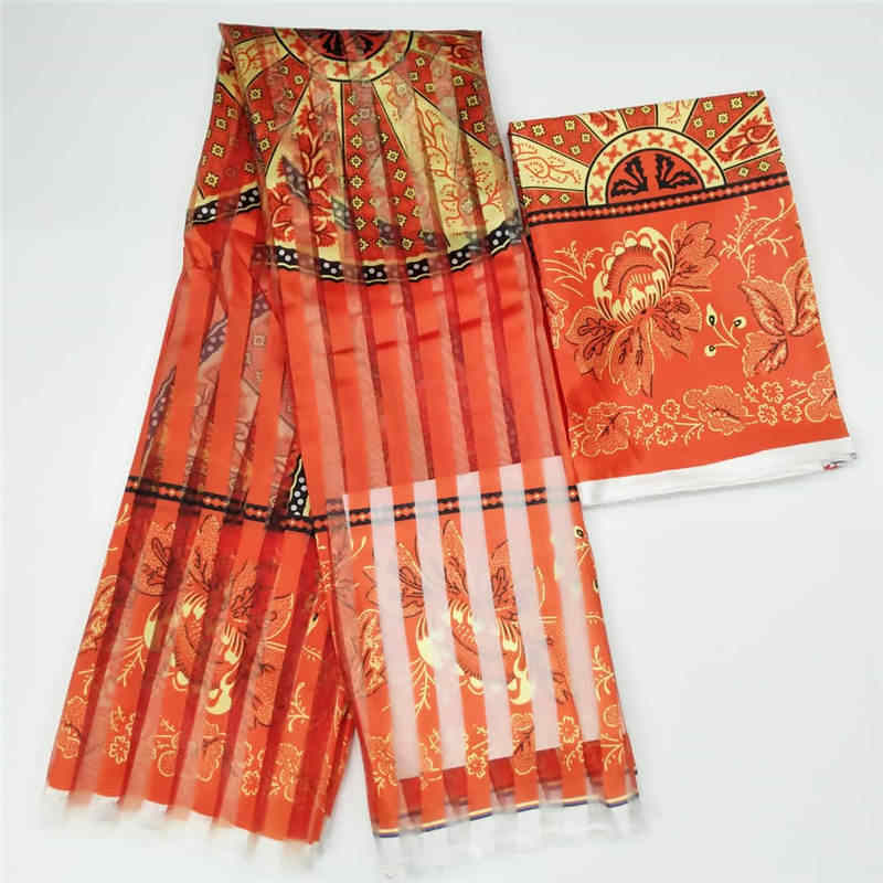 Vendita calda Ghana Stile raso di seta tessuto con nastro di organza e raso Africano della cera disegno (3pcs per DHL)!