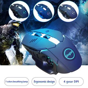 Wired Gaming Mouse 6 Buttons 3000 DPI LED Optical Computer Silent Mouse Gamer Mice USB Cable Game Mouse For PC Laptop Notebook