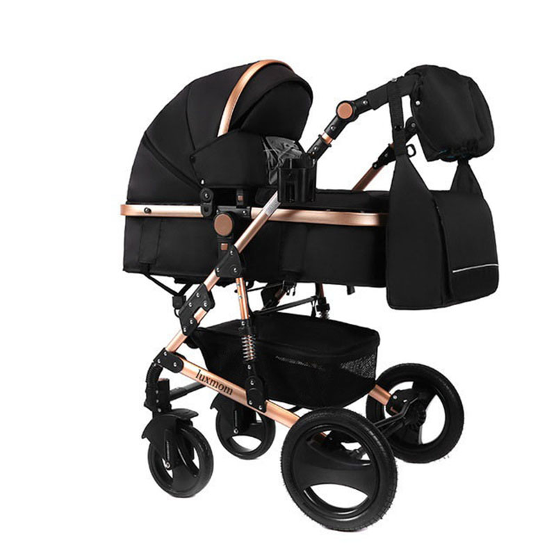 LUXMOM Baby Stroller 2in1 Stroller Bidirectional High-quality Shock Absorber Gift Mom Backpack Russia Free Post