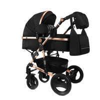 LUXMOM cochecito de bebé 2 en 1 cochecito bidireccional de alta calidad amortiguador regalo mamá mochila Rusia gratis post