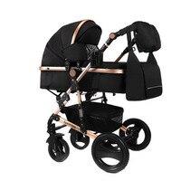 LUXMOM wózek dziecięcy 2w1 wózek dwukierunkowy wysokiej jakości amortyzator prezent mama plecak rosja bezpłatna wysyłka w Wózki z czterema kołami od Matka i dzieci na