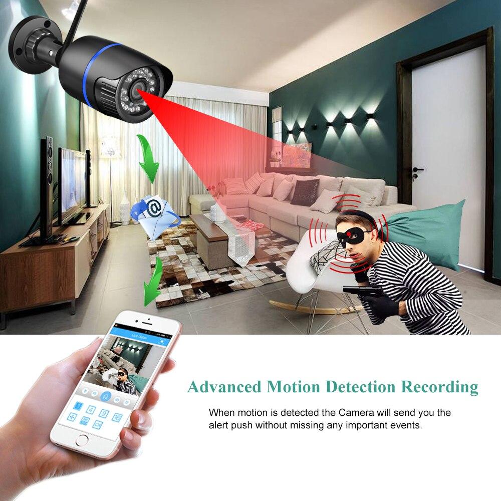 AZISHN Yoosee Wifi IP Kamera 720P 960P 1080P Drahtlose Verdrahtete ONVIF P2P CCTV Kugel Außen Kamera Mit SD Card Slot Max 128G