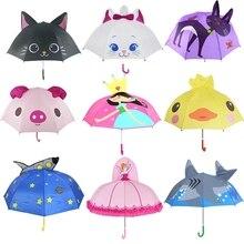 Cute Cartoon Children Umbrella animation creative long-handled 3D ear modeling kids umbrella For boys girls Free shipping