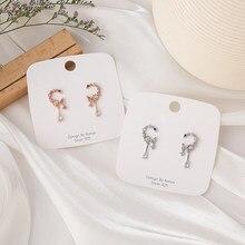 2021 doux mode exquise lune goutte boucles d'oreilles rose Micro pavé Zircon boucles d'oreilles pour les femmes Dliecate Boucle D'oreille oreille bijoux