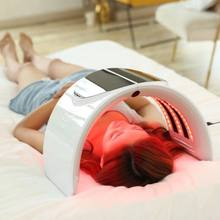 led face mask light therapy machine 7 colors light Facial Skin Care Photon red light skin rejuvenation machine(China)