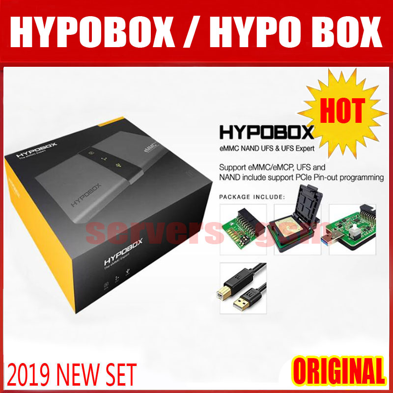 NEW ORIGINAL HYPOBOX/HYPO BOX support eMMC/eMCP,UFS and NAND include support PCle Pin-out programming(China)