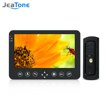 Jeatone Video Doorbell Home Intercom Video Door Phone 10 inch Monitor 960P Day Night Vision Doorbell Camera  Video Intercom Kit video doorbell 7 color lcd screen two way talk hands free door phone 1 camera 1 monitor intercom kit waterproof ir night vision