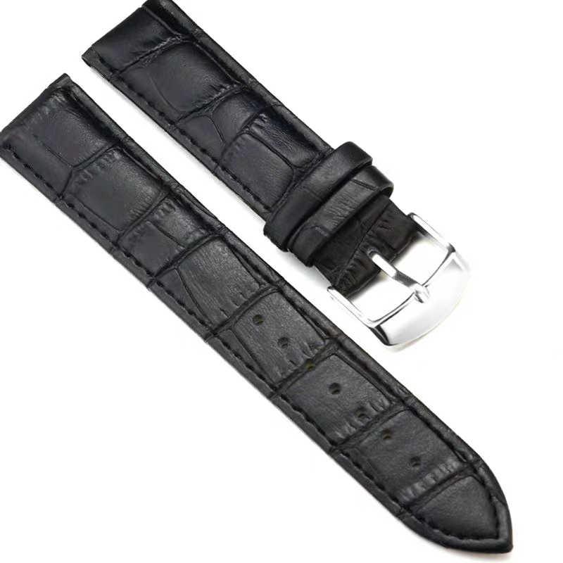 Saat kayışı kaliteli deri saat kayışı sapanlar 12mm 14mm 16mm 18mm 20mm 22mm saat aksesuarları kadın erkekler kahverengi siyah kemer bandı