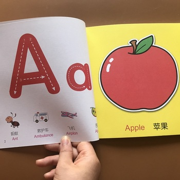 1 Set Kids 26 Alphabet ABC Picture Books Animals Farmyard Enlightenment Tales Baby Famous English Book Children Educational Book