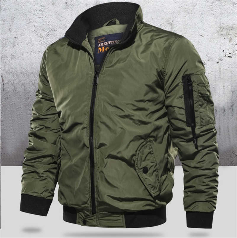 Button JACKET COAT Men Winter Warm Bomber Army Fly Pilot Military Tracksuit Sweatshirt Male 2019 Cardigan Multi Mens Size S-5XL