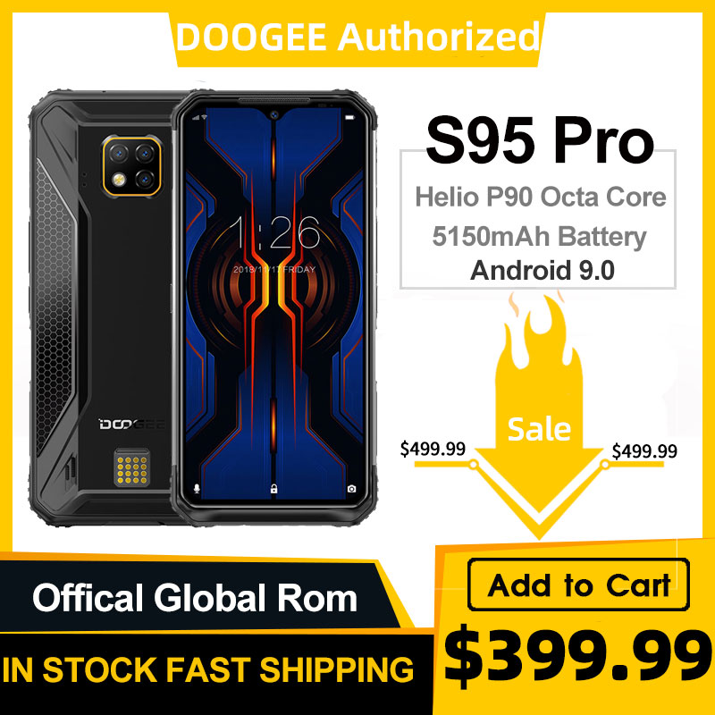 DOOGEE S95 Pro IP68/IP69K Helio P90 Octa Core 8GB 128GB Modular Rugged Mobile Phone 6.3inch Display 5150mAh 48MP Cam Android 9(China)