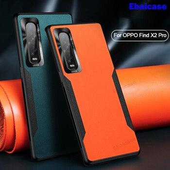 Перейти на Алиэкспресс и купить Для OPPO Find X2 Pro Чехол для Realme X50 Pro Роскошный Кожаный противоударный чехол для OPPO Reno 4 3 Pro R17 Pro ACE 2 5G чехол