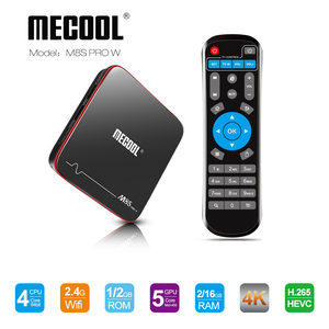 Image 2 - MECOOL M8S PRO W Smart TV Box Android 7.1 Amlogic S905W Quad Core 2GB 16GB 1GB 8GB  Voice Control 2.4G WiFi 4K Set Top TV Box