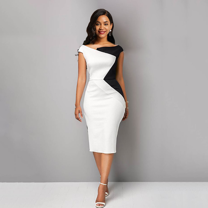 Sisjuly Summer Vintage Sexy Party White African Women Midi Dresses Pencil Bodycon Office Ladies Chic Purple Fashion Dress 2019