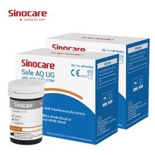 Tiras seguras da glicose do sangue de sinocare aq ug & tiras do ácido úrico para a gota da diabetes grávida