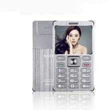 Ultra Dünne Kreditkarte Handy SATREND A10 Dual Sim GSM Metall Körper 1.77