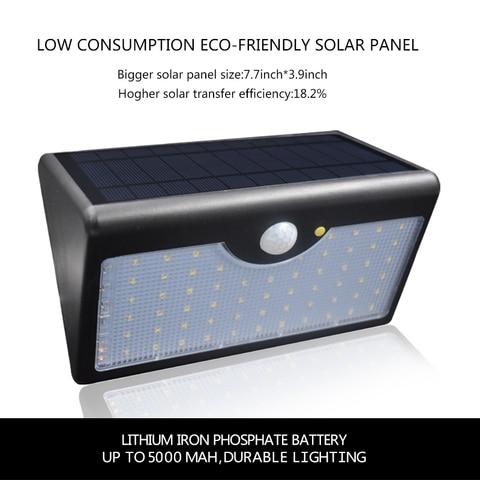 mais novo solar luz 1300lm ip65 60 5 modos com controlador de led a prova