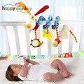 Детские игрушки для детей 0-12 месяцев  плюшевая погремушка  спиральный подвесной мобильный  для новорожденных  коляска  подарок с животными