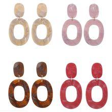 2019 new  hot Fashion Geometric Hollow Oval Drop Dangle Earrings Women Resin Elegant Jewelry Gift  Exaggeration Jewellery