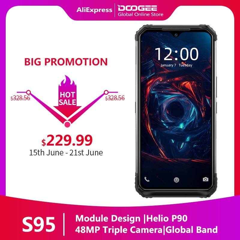 "Doogee S95 Pro Modular Rugged Mobile Phone IP68/IP69K Smartphone 6.3"" Display Helio P90 Octa Core 48MP Triple camera 8GB 128GB(China)"