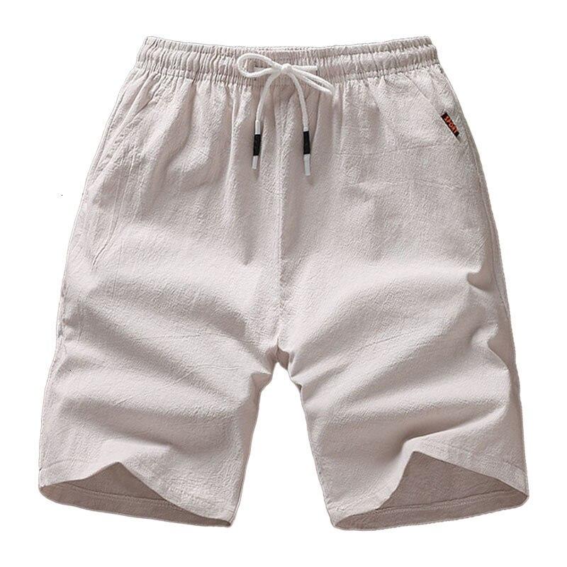 Shorts Men  Casual Summer Shorts Men Bermuda Breathable Linen Cotton Trousers Beach Short Pant Board Male Plus Size 5XL SP66