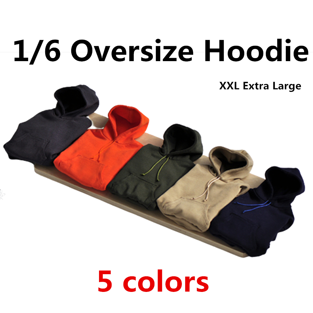 1/6 Scale Men Oversize Hoodies XXL Loose Sweat Shirt Model for 12 Inch Large Muscle Super Strong <font><b>Action</b></font> <font><b>Figures</b></font> <font><b>Body</b></font> Toys image
