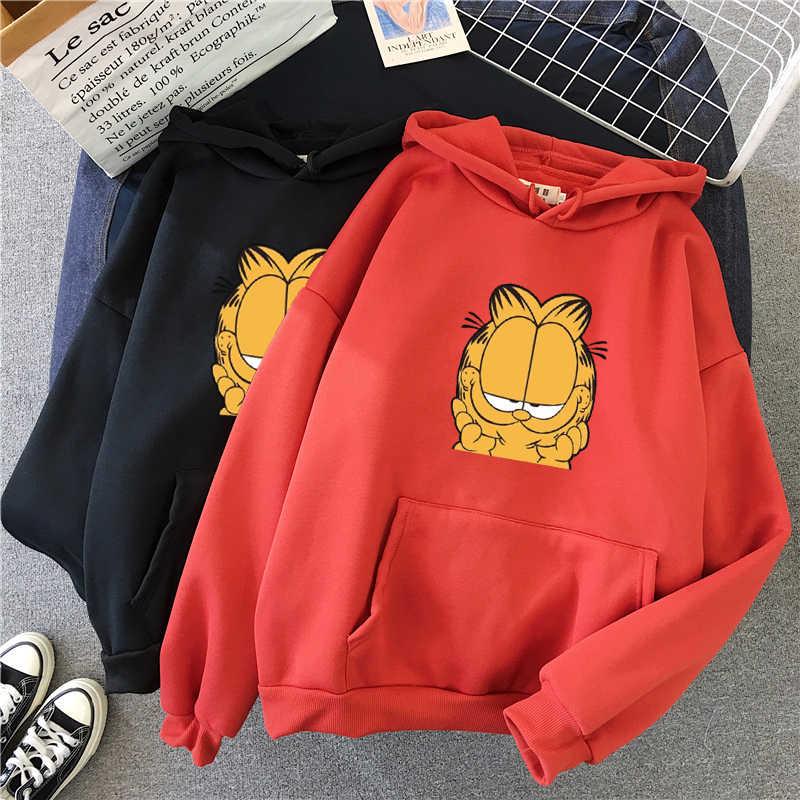 Harajuku Wit Roze Lange Mouwen Truien Vrouwen Cartoon Gedrukt Capuchon Truien Femme Kleding Shellsuning Winter Sweatshirt