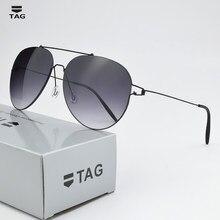 2021 Ultralight retro sunglass TAG Brand Design sun glasses men driving lenses Gradient sun glasses women Titanium T3025 oculos