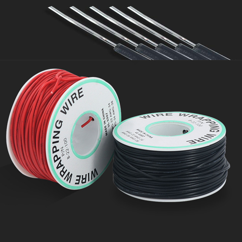 Electronic Line Single Core Copper Wire Soldering Cable PCB Jumper 22AWG 0.6mm Bold 300V Circuit Board Flying Ok Wire