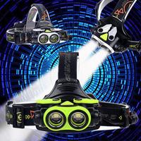 20000 LM 2X T6 LED Headlight Flashlight Torch USB Rechargeable Headlamp Cycling Headlamp Headlamps Light Fish Headlamps|Headlamps| |  -