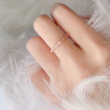 Vintage Art Deco Solid Rose Gold Zircon งานแต่งงานแหวน(China)