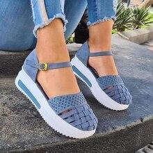 Fashion Women Hollow Out Sandals Summer Flat Heels Sandals Female Casual Sewing Women Shoes Platform Sandals Ladies Sandalias