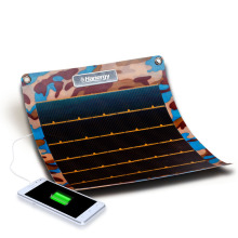 7.7W thin film power generation solar charging treasure folding portable outdoor mobile power mobile phone charger