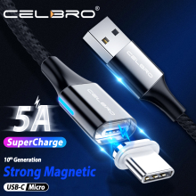5A Магнитный Тип Кабеля C кабель супер быстрая зарядка для телефона huawei p30 lite p20 p10 p9 Microusb магнит usb-кабель для передачи данных и для зарядки кабель Магнитная