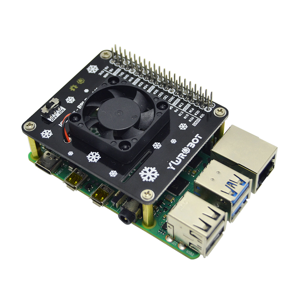 cheapest Raspberry Pi GPIO Cooling Fan Expansion Board  with LED Compatible for Raspberry Pi 4B 3B  3B