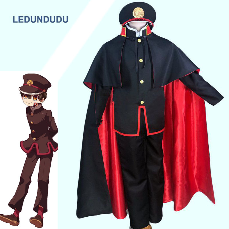 Anime Toilet-bound Hanako-kun Cosplay Costume Jibaku Shounen Hanako Kun Uniform Women Men Cloak For Halloween Customized