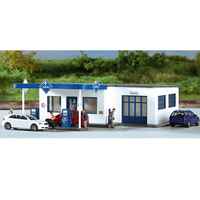 HO ratio 1:87 Germany Train model building 61827 Gas Station Sand table building model ABS Assemble