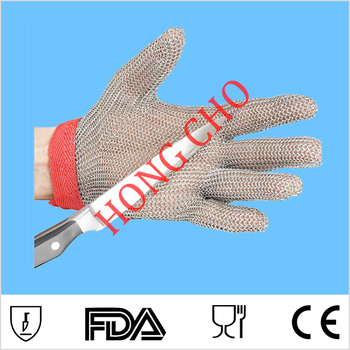 102 Welded mesh cut proof glove for wood work glove XXS chain mesh glove metal hand glove finger cut glove adjustable closure фото
