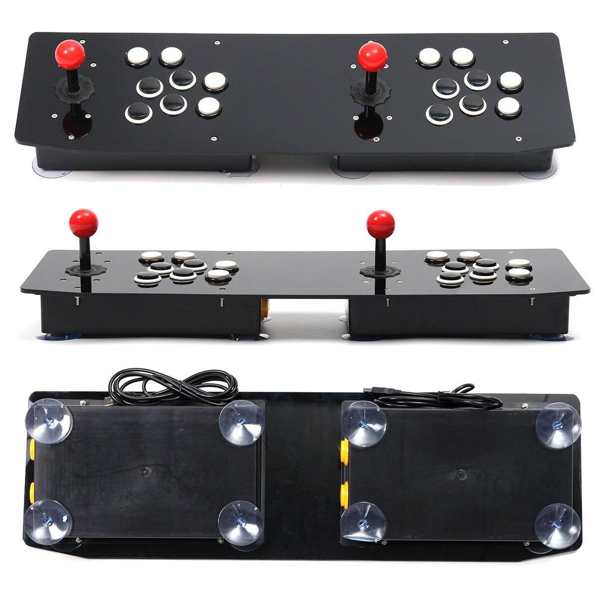 Double bâton d'arcade jeu vidéo manette contrôleur Console PC USB 2 joueurs ordinateur Machine de jeu vidéo jeu accessoires de jeu - 3