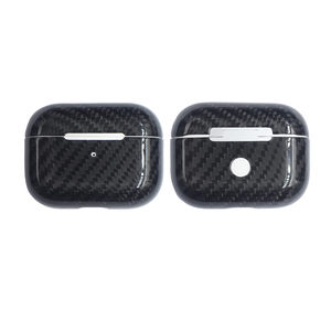 Image 5 - Carbon Fiber Oortelefoon Case Cover Voor Apple Airpods Pro Case 2019 Real Carbon Fiber Led Draadloze Koptelefoon Opladen Box Harde case