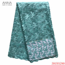 Anna fashion style african lace fabric 2020 high quality embroidery french net lace nigerian tulle fabrics 5 yards/pcs for dress(China)