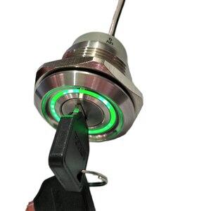 Image 5 - 30ミリメートル2または3位置金属12v照明キーロックスイッチLAS1 AGQ30ステンレス鋼